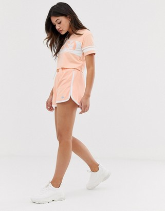 Lonsdale London high waisted varsity short in peach