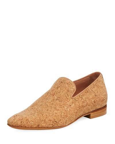 Donald J Pliner Men's Pazano Herringbone Cork Loafer