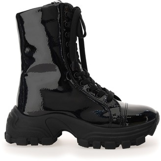 Miu Miu Chunky Sole Lace-Up Boots