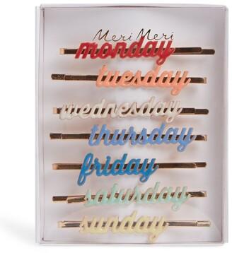 Meri Meri Day of the Week Hair Slides (Pack of 7)