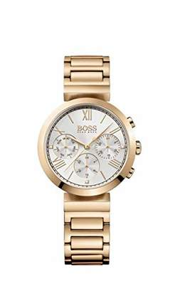 HUGO BOSS Classic Women Sport Womens Quartz Silver Chronograph Rose Gold Stainless Steel Bracelet 1502399