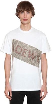 Loewe Flower Patch Cotton Jersey T-Shirt