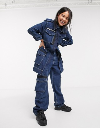 House of Holland utility denim jacket co-ord