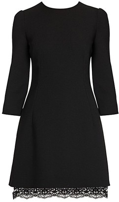 Dolce & Gabbana Three-Quarter Sleeve Double Crepe Mini Dress
