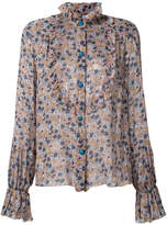 Anna Sui floral chiffon top