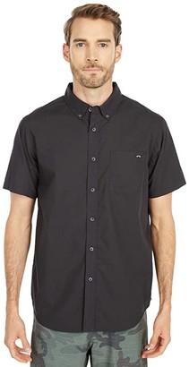 Billabong All Day Short Sleeve Woven (Black) Men's Clothing