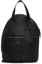 Marsèll Black Leather Backpack