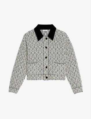 Sandro Jazy embellished woven cardigan