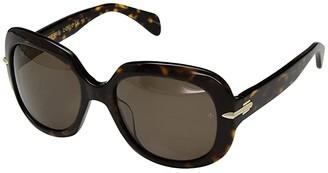 Rag & Bone Rnb1030/S (Dark Havana/Bronze Polarized) Fashion Sunglasses