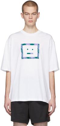 Acne Studios White Check Motif T-Shirt