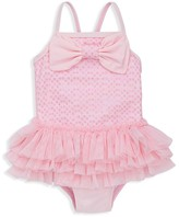 Little Me Girls' Sequined Tutu One Piece Swimsuit - Baby