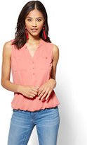 New York & Co. Soho Soft Shirt - Sleeveless Popover Blouse