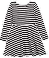 H&M Jersey Dress - Black/white striped - Kids