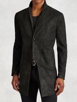 John Varvatos Scored Leather Cutaway Coat