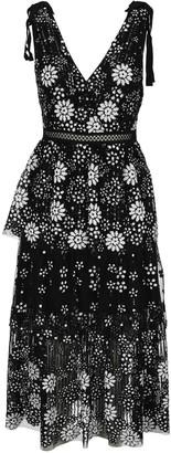 Self-Portrait Sequin Tiered Midi Dress
