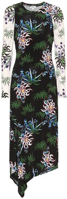 Kenzo Floral stretch-knit midi dress