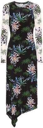 Kenzo Floral stretch-knit midi dress