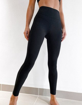 Lorna Jane New Booty Sculpt high waisted ankle biter leggings in black