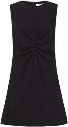 Victoria Victoria Beckham Ruched Twill Mini Dress
