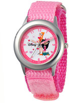Disney Watch, Kid's Candace and Isabella Time Teacher Pink Velcro Strap 30mm W000379