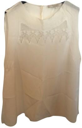 Vanessa Bruno Beige Silk Top for Women