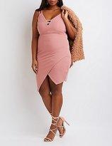 Charlotte Russe Plus Size Textured Asymmetrical Dress
