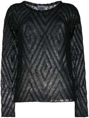 Dondup Patterned Fine Knit Top