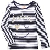 Joe Fresh Graphic Stripe Tee (Toddler & Little Girls)