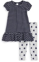 Nordstrom Infant Girl's Stripe Peplum Dress & Leggings Set