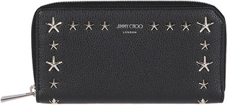 Jimmy Choo Star Embellished Zip Around Wallet
