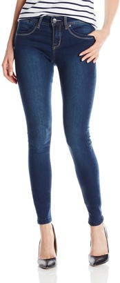 Lola Jeans Women's Celina 9 Inch Mid Rise Skinny Jeans with Zipper Fly
