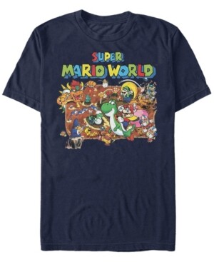 Nintendo Men's Super Mario World Map Short Sleeve T-Shirt