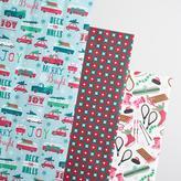 Mint Retro Kraft Wrapping Paper Rolls 3 Pack