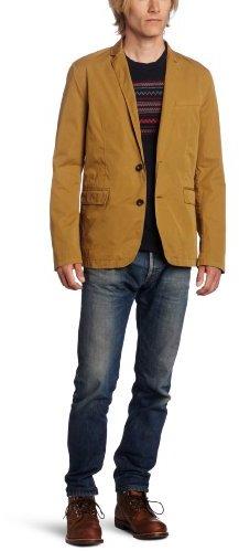 Ben Sherman Men's Plectrum Garment Dyed Cotton Blazer