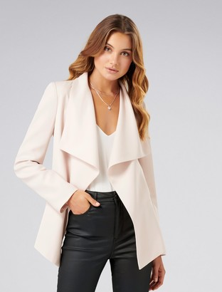 Forever New Lesley Waterfall Jacket - Nude Shimmer - 4