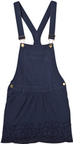 Scotch R'Belle Blue Lace Trim Dungarees Dress