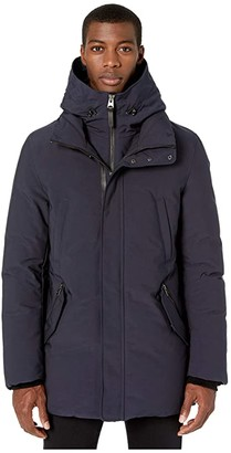 Mackage Edward-NF Hooded Down Coat (Navy) Men's Coat