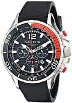 Nautica Men's NAD21500G NST 02 Analog Display Japanese Quartz Black Watch