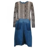Chloé Python print dress