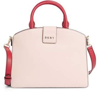 DKNY Clara Medium Coated Leather Satchel
