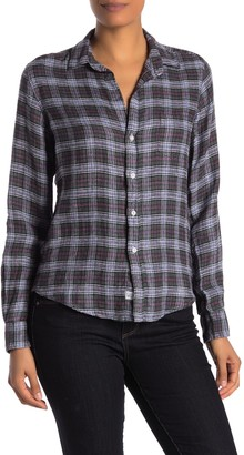 Frank And Eileen Barry Front Button Plaid Print Shirt