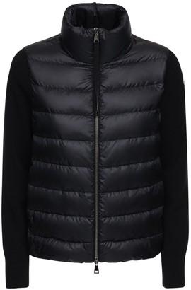 Moncler Nylon & Wool Short Down Jacket