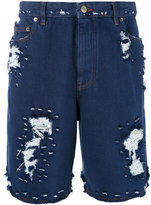 Golden Goose Deluxe Brand distressed shorts