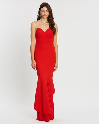 Bariano Victoria Strapless Fishtail Gown