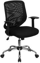 Wojciechowski Mesh Task Chair Symple Stuff Upholstery Color: Italian Leather