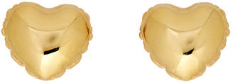 Marc Jacobs Gold The Balloon Heart Studs Earrings
