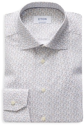 Eton Contemporary-Fit Floral-Print Dress Shirt