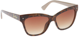 Jessica Simpson Women's J5349 Cateye Animal Print Sunglasses