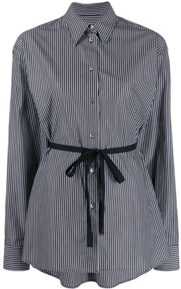 MM6 MAISON MARGIELA Tie Waist Striped Shirt