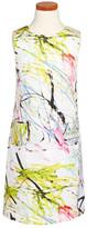 Milly Minis Sleeveless Scribble Print Dress (Big Girls)
